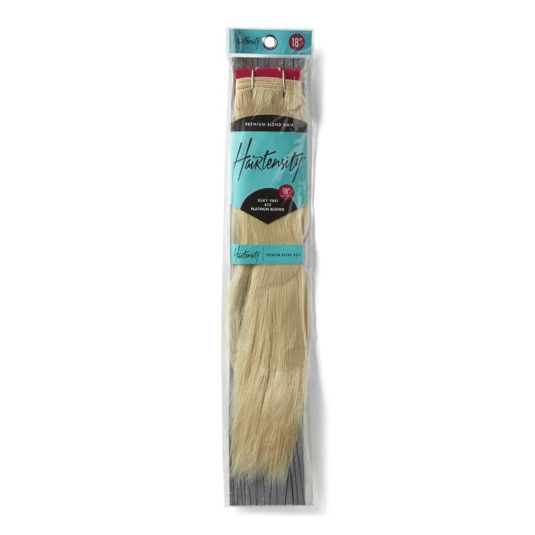 Platinum Blonde 18 Inch Human & Premium Blend Hair