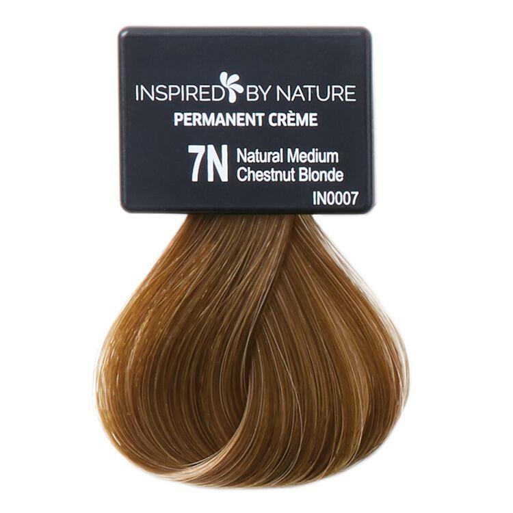 Ammonia-Free Permanent Hair Color Natural Medium Chestnut Blonde 7N