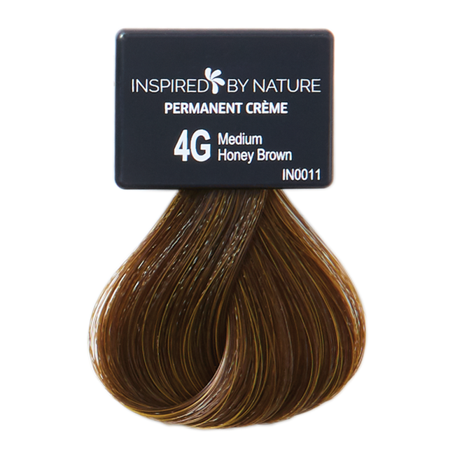 Ammonia-Free Permanent Hair Color Medium Honey Brown 4G
