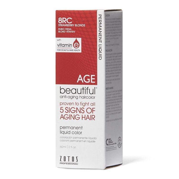 Anti-Aging 8RC Strawberry Blonde Permanent Liquid Hair Color