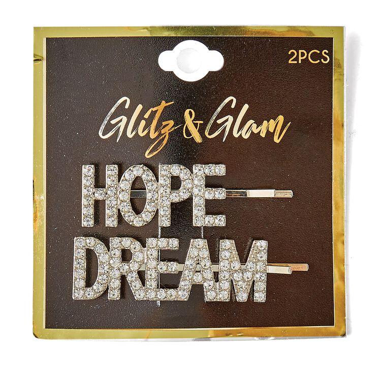 Hope & Dream Silver Bobby Pins