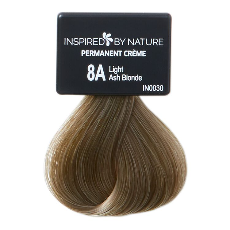 Ammonia-Free Permanent Hair Color Light Ash Blonde 8A