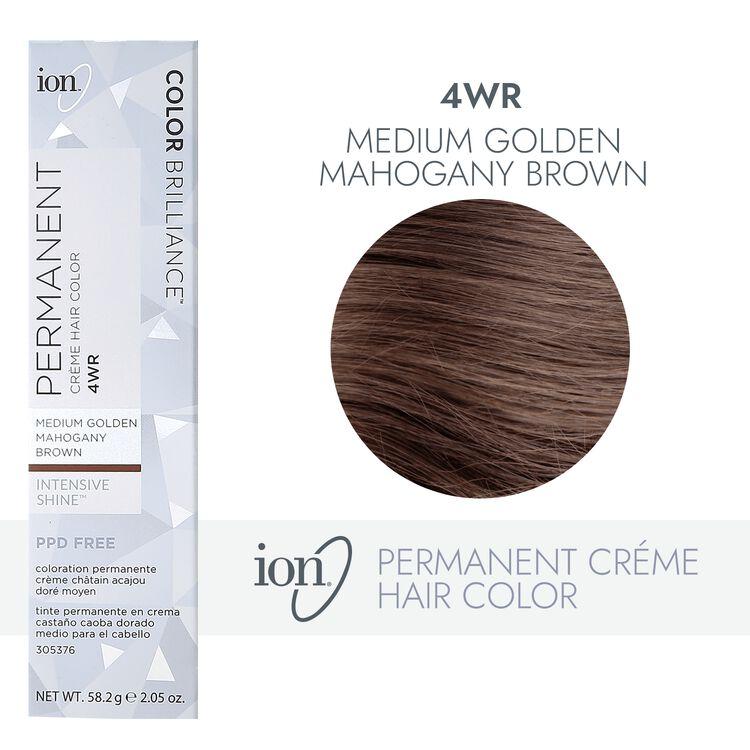 4WR Medium Gold Mahogany Brown Permanent Creme Hair Color