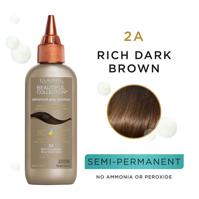 Clairol Beautiful Collection Advanced Gray Solution Semi-permanent Color Rich Dark Brown