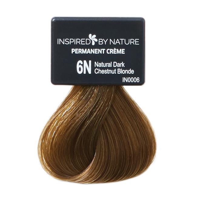 Ammonia-Free Permanent Hair Color Natural Dark Chestnut Blonde 6N