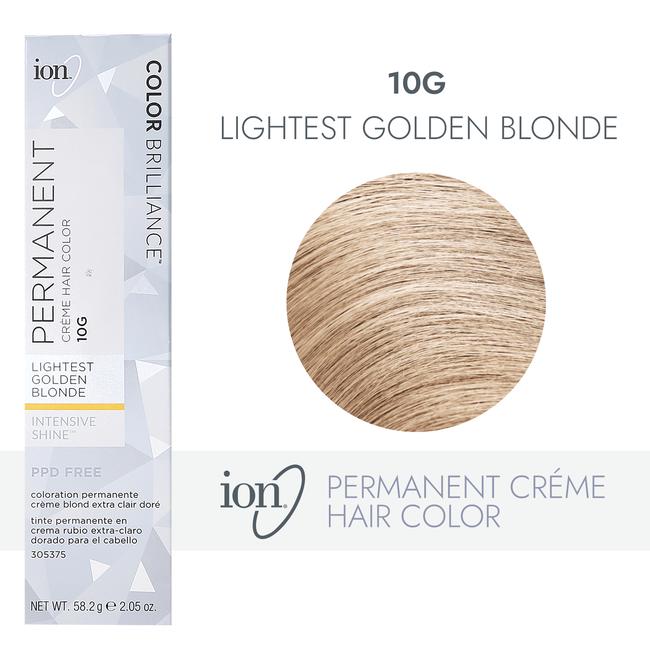 10G Lightest Golden Blonde Permanent Creme Hair Color