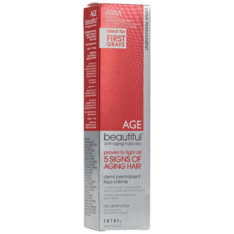 4RM Dark Red Mahogany Brown Demi Permanent Liqui Creme Hair Color