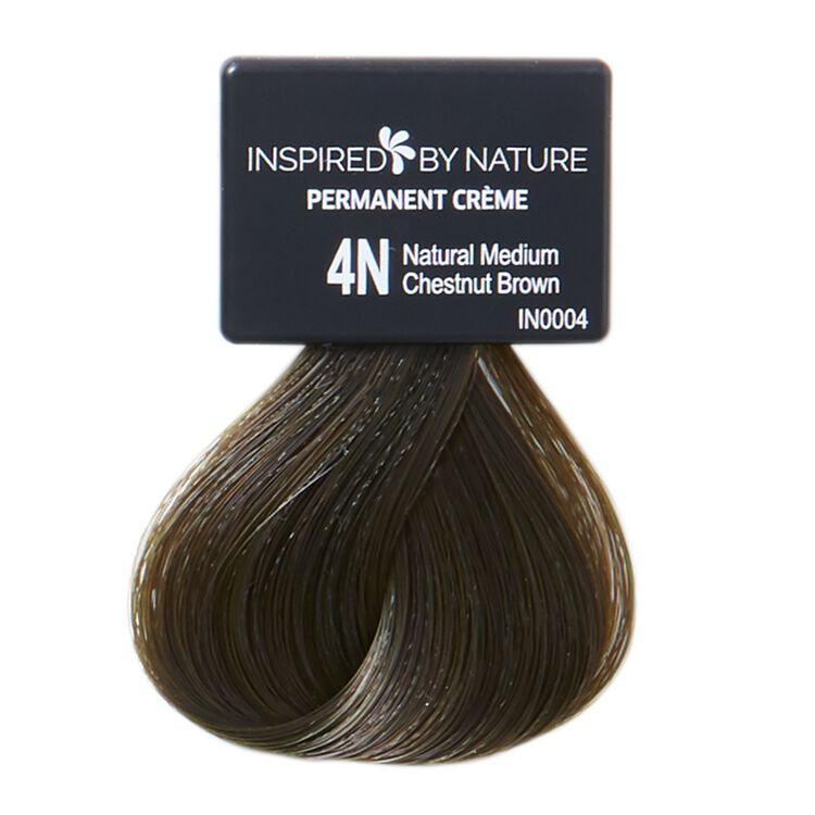 Ammonia-Free Permanent Hair Color Natural Medium Chestnut Brown 4N