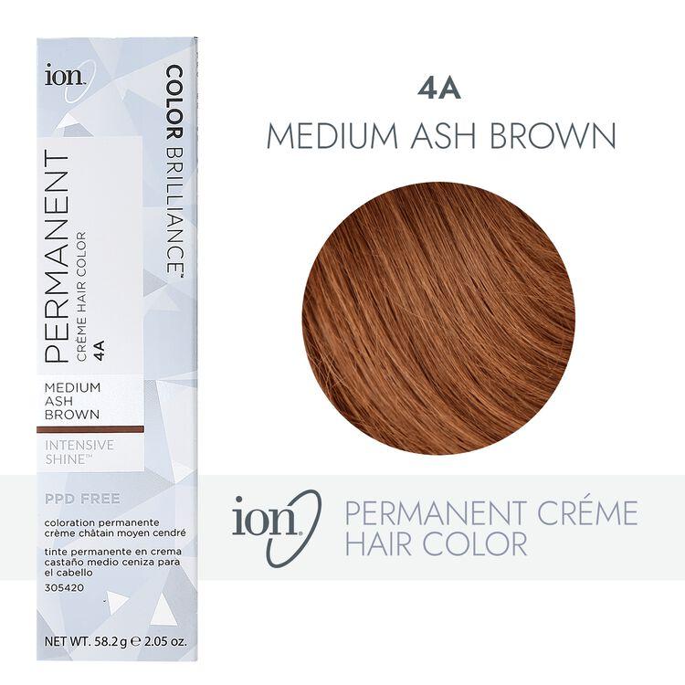 4A Medium Ash Brown Permanent Creme Hair Color