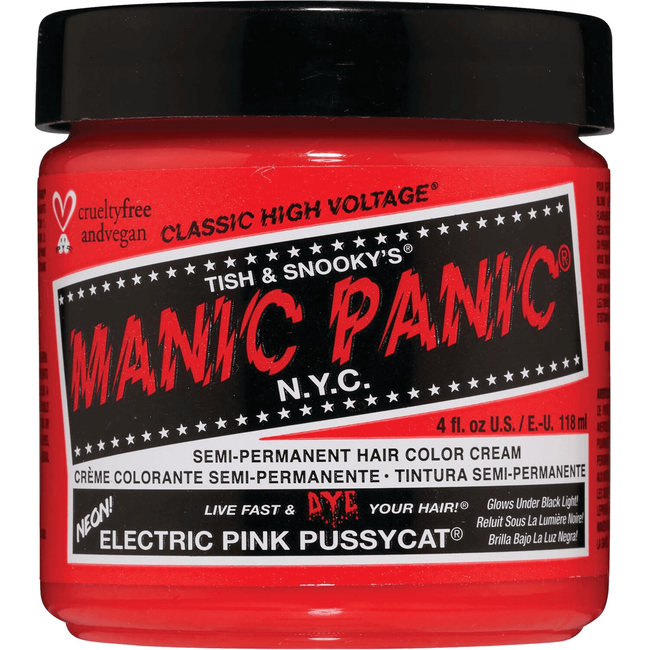 Electric Pink Pussycat Semi Permanent Cream Hair Color