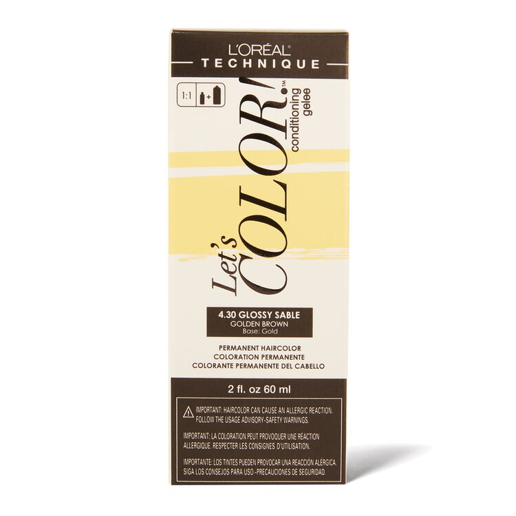 Let's COLOR! Conditioning Gelee Permanent Haircolor 4.30 Glossy Sable