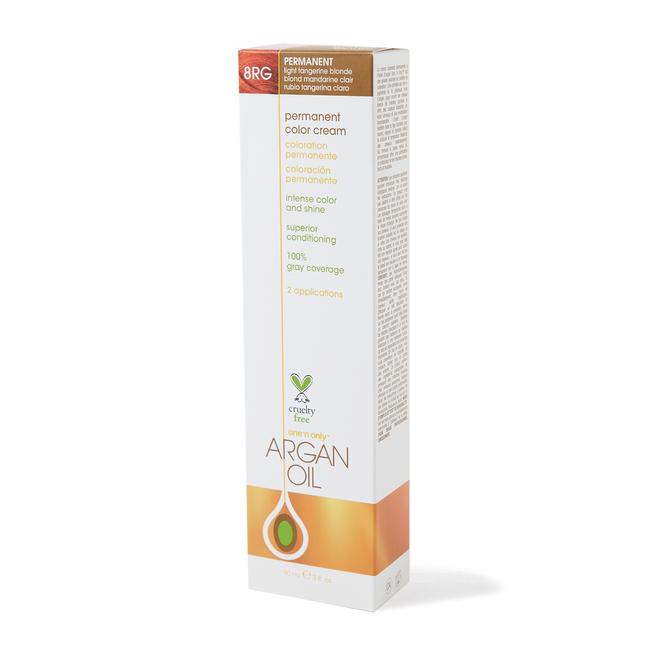 Argan Oil Permanent Color Cream 8RG Light Tangerine Blonde