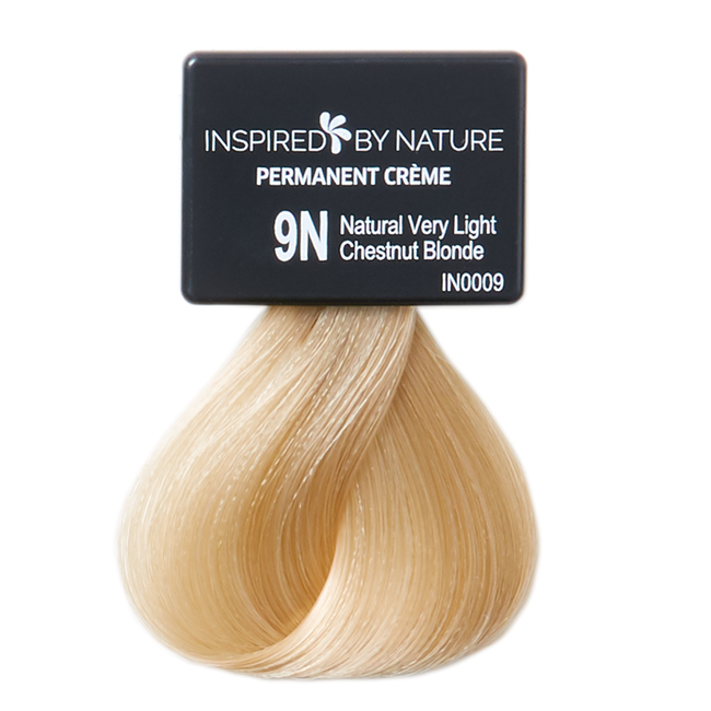 Ammonia-Free Permanent Hair Color Natural Very Light Chestnut Blonde 9N