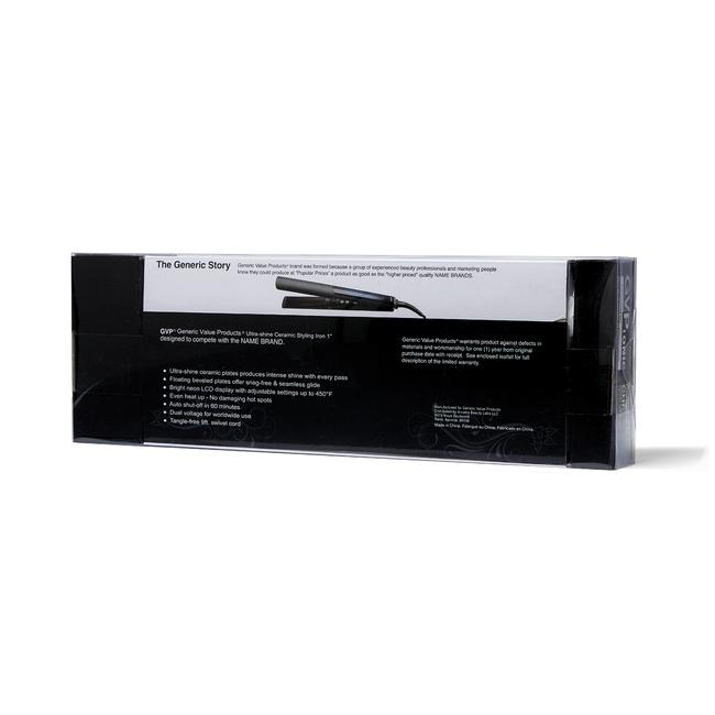 Ultra-Shine Ceramic Styling Iron Compare to CHI Onyx Euroshine Ceramic Hair Syler 1 inch