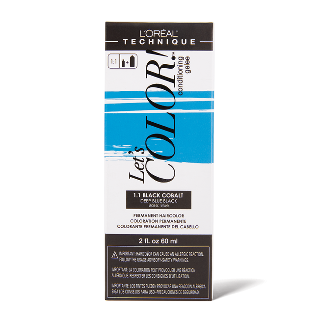 Let's COLOR! Conditioning Gelee Permanent Haircolor 1.1 Black Cobalt