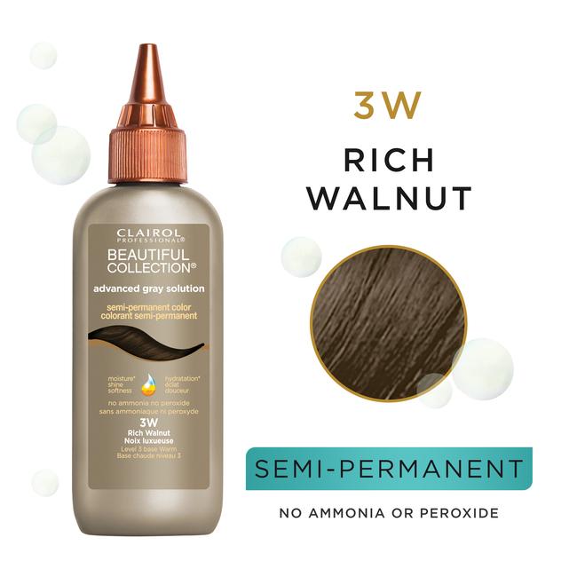 3W Rich Walnut Semi Permanent Hair Color