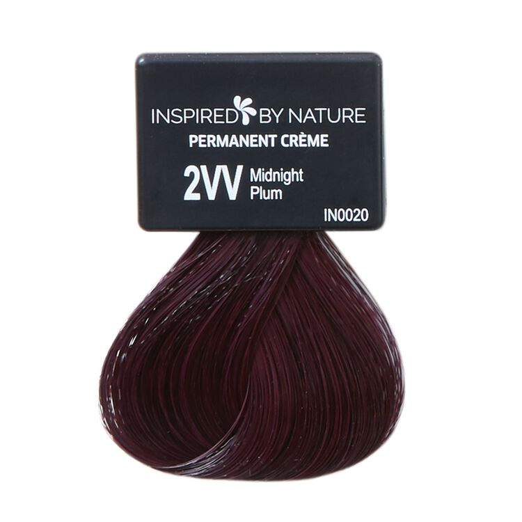 Ammonia-Free Permanent Hair Color Midnight Plum 2VV