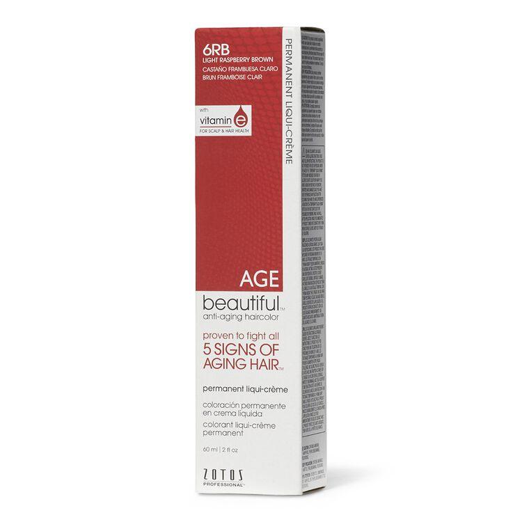 6RB Light Raspberry Brown Permanent Liqui-Creme Hair Color