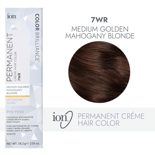 7WR Medium Gold Mahogany Blonde Permanent Creme Hair Color