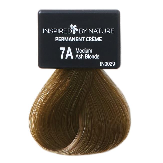 Ammonia-Free Permanent Hair Color Medium Ash Blonde 7A
