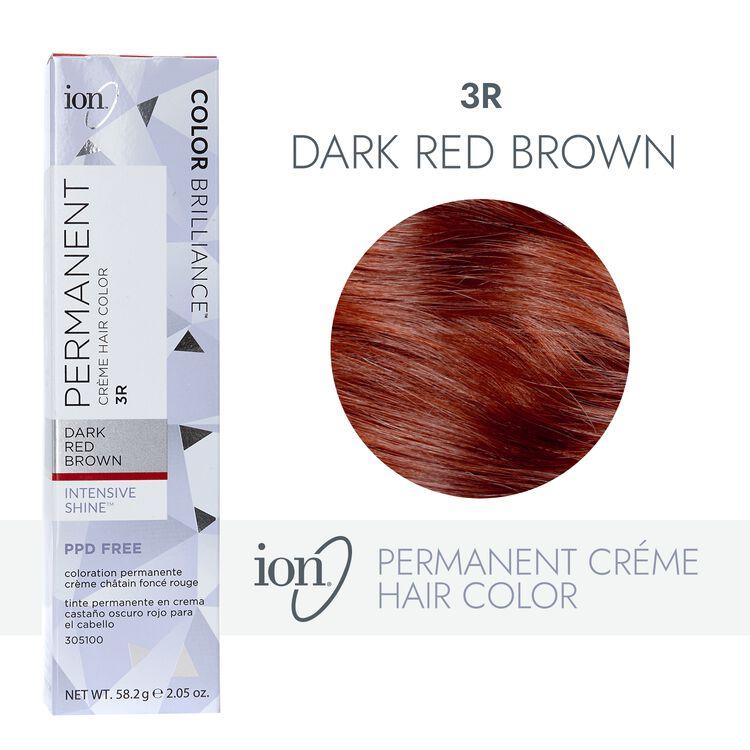 3R Dark Red Brown Permanent Creme Hair Color