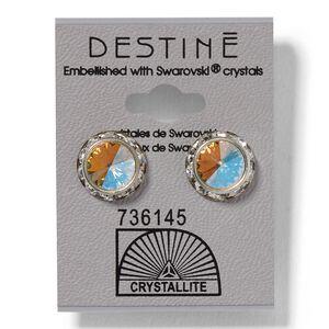 AB Rhinestone Rivoli Earrings