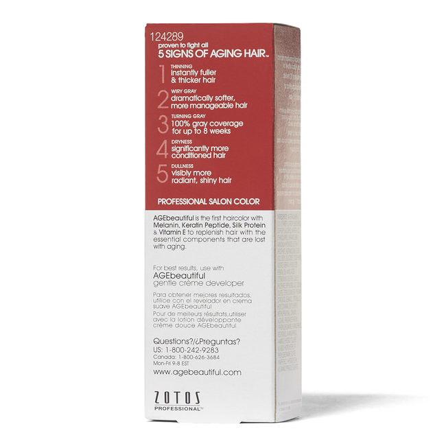 Anti-Aging 6RB Light Raspberry Brown Permanent Liquid Hair Color
