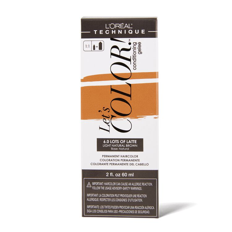 Let's COLOR! Conditioning Gelee Permanent Haircolor 6.0 Lots Of Latte