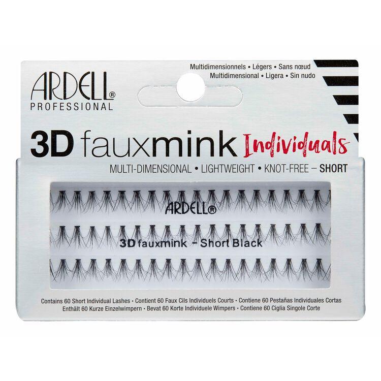 3D Faux Mink Individual Short
