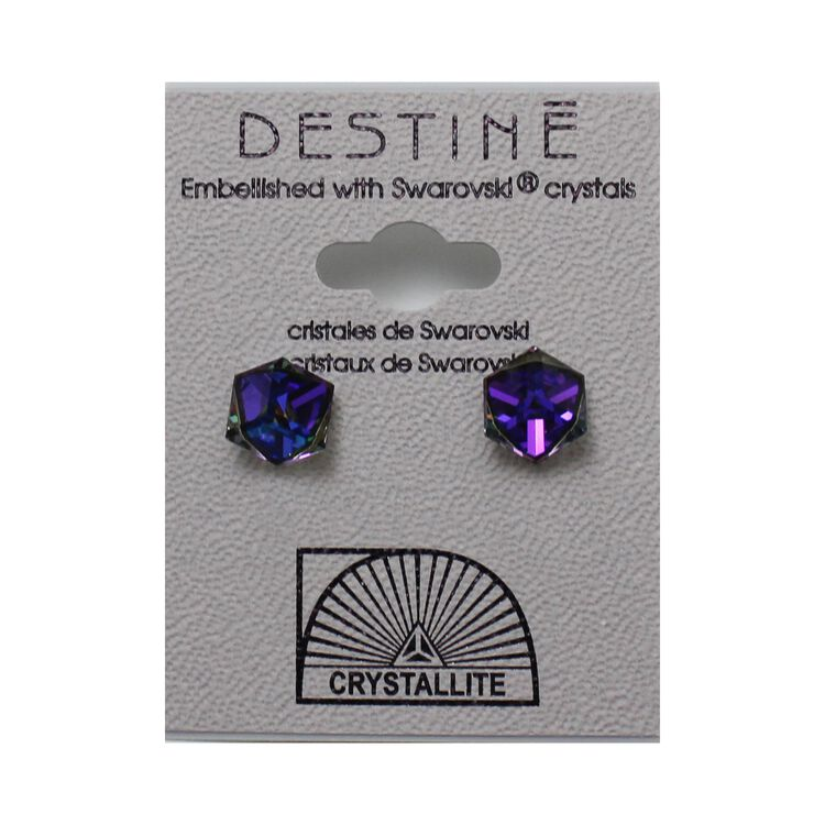 Destine Earring HL Tilted Cube 6mm