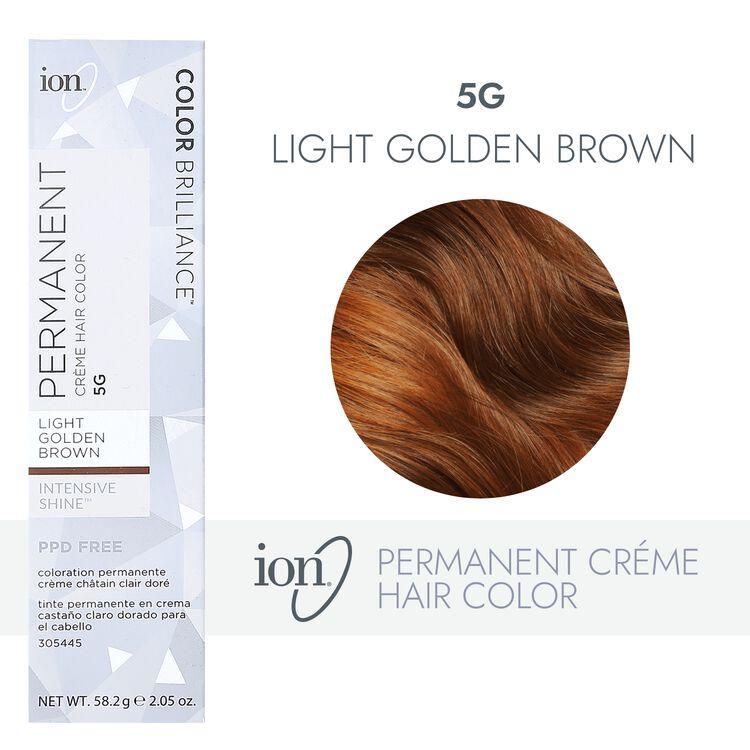 5G Light Golden Brown Permanent Creme Hair Color
