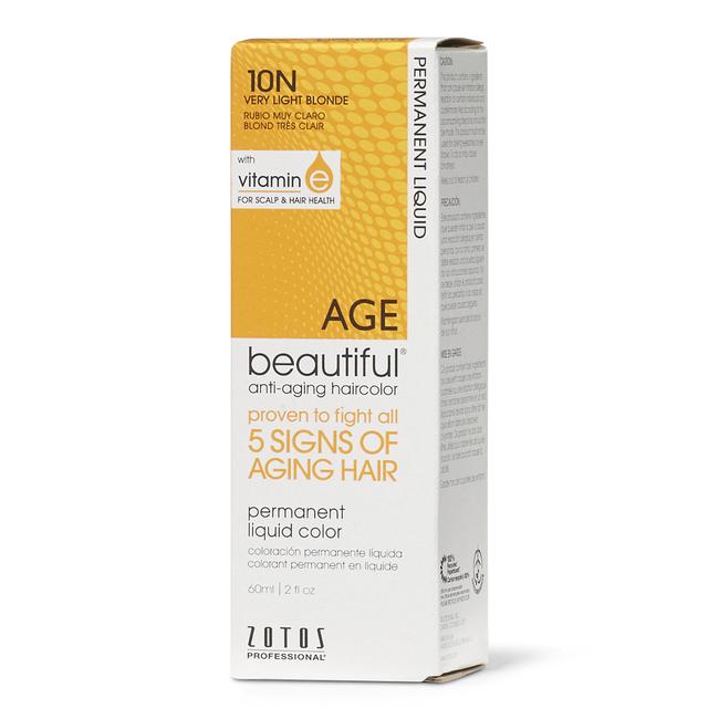 Anti-Aging 10N Very Light Blonde Permanent Liquid Hair Color