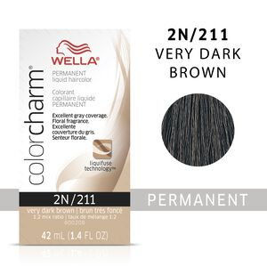 Very Dark Brown Color Charm Liquid Permanent Hair Color