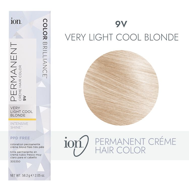 9V Very Light Cool Blonde Permanent Creme Hair Color