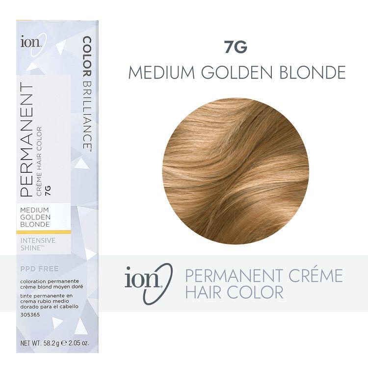 7G Medium Golden Blonde Permanent Creme Hair Color