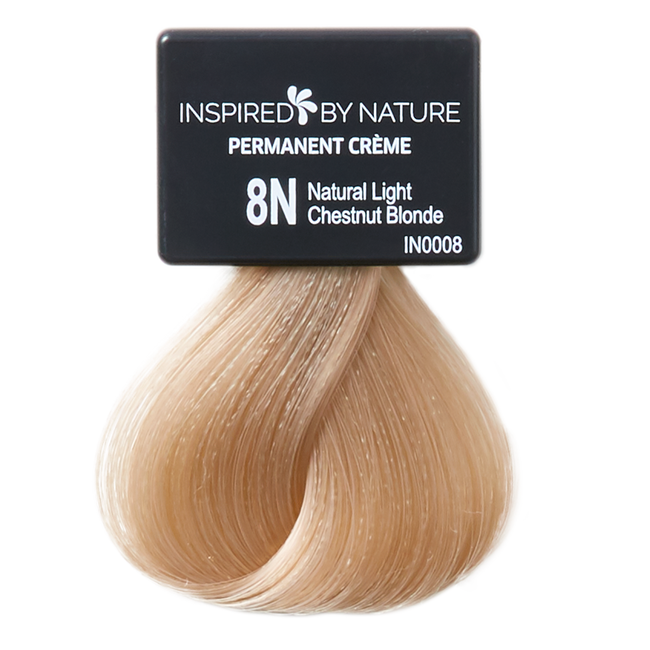 Ammonia-Free Permanent Hair Color Natural Light Chestnut Blonde 8N