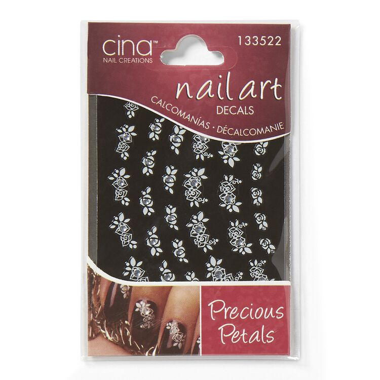 Precious Petals Rhinestone Art Jewelry Decals