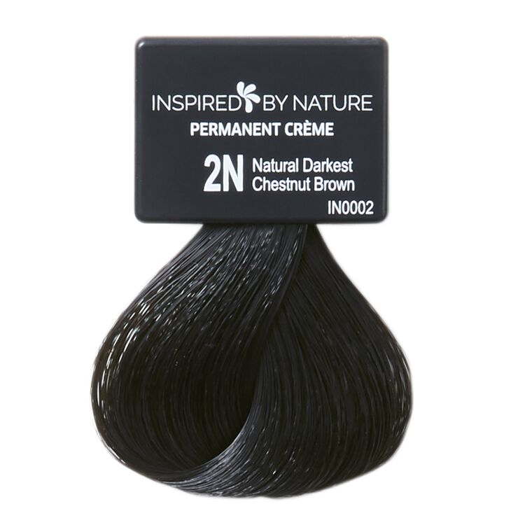 Ammonia-Free Permanent Hair Color Natural Darkest Chestnut Brown 2N