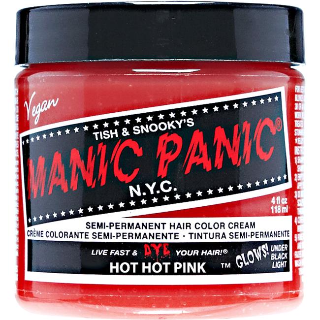 Manic Panic Semi-Permanent Hair Color Cream Hot Hot Pink