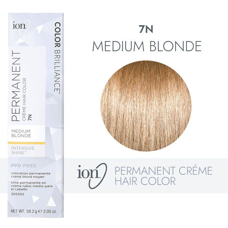 7N Medium Blonde Permanent Creme Hair Color
