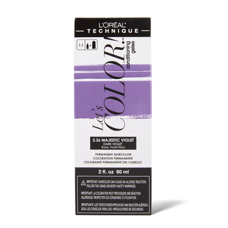 Let's COLOR! Conditioning Gelee Permanent Haircolor 3.26 Majestic Violet