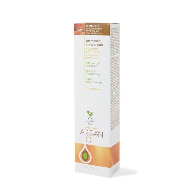 Argan Oil Permanent Color Cream 8G Light Golden Blonde