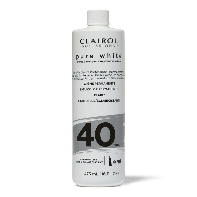 40 Volume Pure White Creme Developer