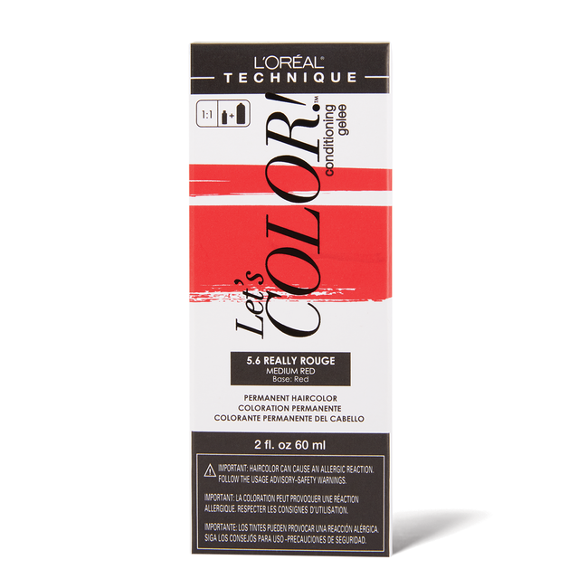 Let's COLOR! Conditioning Gelee Permanent Haircolor 5.6 Really Rouge