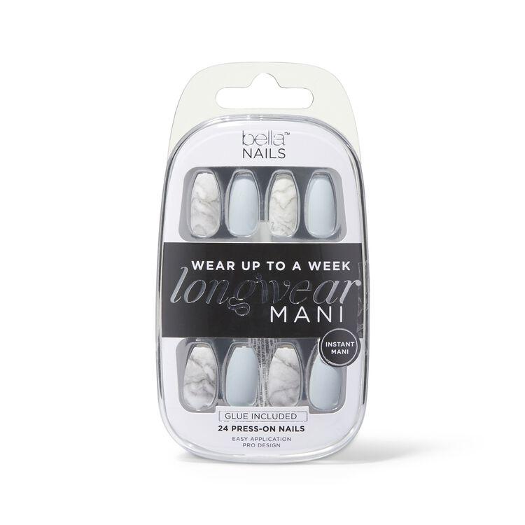 Marble Longwear Mani Press On Nails