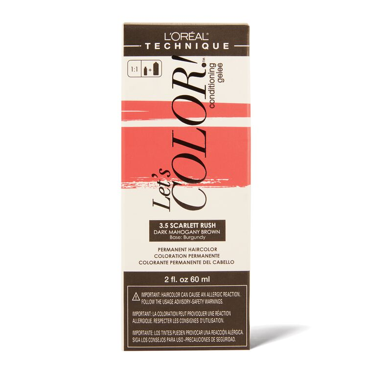Let's COLOR! Conditioning Gelee Permanent Haircolor 3.5 Scarlett Rush