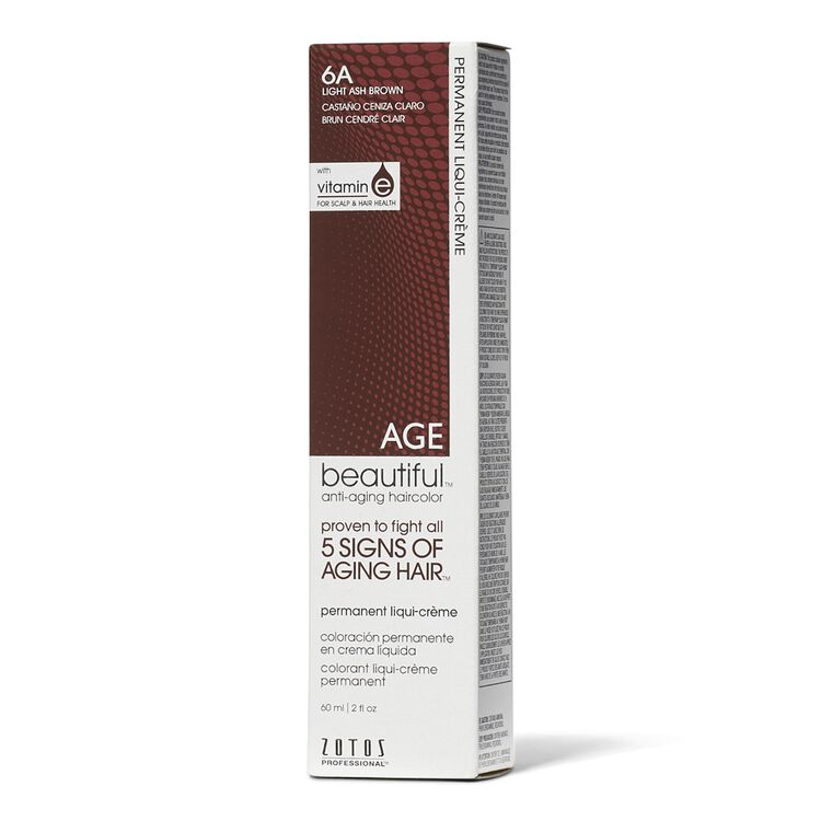 6A Light Ash Brown Permanent Liqui-Creme Hair Color