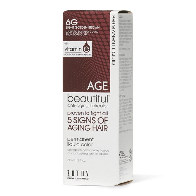 Anti-Aging 6G Light Golden Brown Permanent Liquid Hair Color