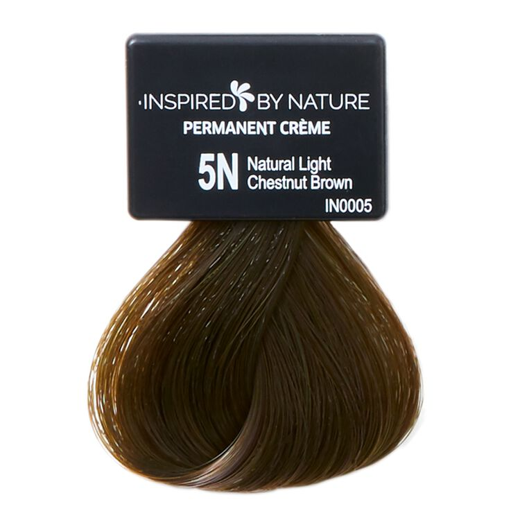 Ammonia-Free Permanent Hair Color Natural Light Chestnut Brown 5N