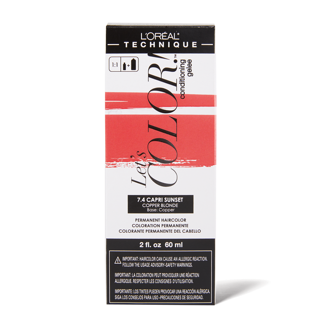 Let's COLOR! Conditioning Gelee Permanent Haircolor 7.4 Capri Sunset